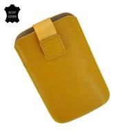 Motorola Moto E - Insteekhoesje Cover Leder Geel