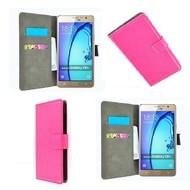 Samsung Galaxy On7 - Wallet Bookstyle Case Lederlook Roze