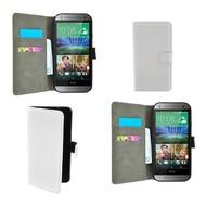 HTC One M8 - Wallet Bookstyle Case Lederlook Wit