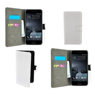 HTC One A9 - Wallet Bookstyle Case Lederlook Wit