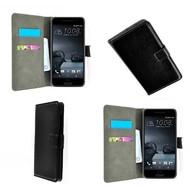 HTC One A9 - Wallet Bookstyle Case Lederlook Zwart