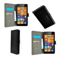 Microsoft Lumia 535 - Wallet Bookstyle Case Lederlook Zwart