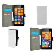 Microsoft Lumia 535 - Wallet Bookstyle Case Lederlook Wit