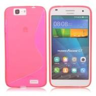 Huawei Ascend G7 - Tpu Siliconen Case Hoesje S-Style Roze