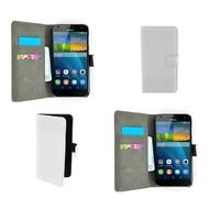 Huawei Ascend G7 - Wallet Bookstyle Case Lederlook Wit