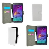 Samsung Galaxy Note 4 - Wallet Bookstyle Case Lederlook Wit