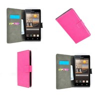 Huawei Ascend G6 - Wallet Bookstyle Case Lederlook Roze