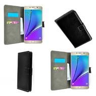 Samsung Galaxy Note 5 - Wallet Bookstyle Case Lederlook Zwart