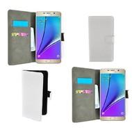 Samsung Galaxy Note 5 - Wallet Bookstyle Case Lederlook Wit