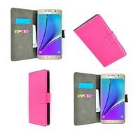 Samsung Galaxy Note 5 - Wallet Bookstyle Case Lederlook Roze