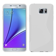 Samsung Galaxy Note 5 - Tpu Siliconen Case Hoesje S-Style Wit