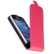 Samsung Galaxy Trend Lite (Fresh) - Flip Case Cover Hoesje Lederlook Roze