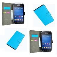 Samsung Galaxy Trend Lite (Fresh) - Wallet Bookstyle Case Lederlook Turquoise