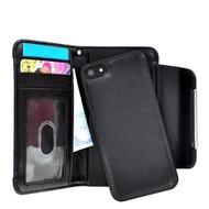 Wallet Bookstyle Case Uitneembaar Hoesje voor iPhone 6(s) Plus - Zwart