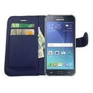 Samsung Galaxy J5 - Wallet Bookstyle Case Lederlook Blauw