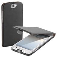 HTC One A9 - Flip Case Cover Hoesje Lederlook Zwart