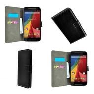 Motorola Moto G - Wallet Bookstyle Case Lederlook Zwart