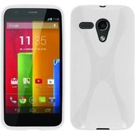 Motorola Moto G - Tpu Siliconen Case Hoesje X-Style Wit