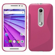 Motorola Moto G Turbo Edition - Tpu Siliconen Case Hoesje S-Style Roze