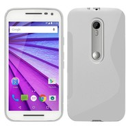 Motorola Moto G Turbo Edition - Tpu Siliconen Case Hoesje S-Style Wit