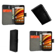 Motorola Moto X Force - Wallet Bookstyle Case Lederlook Zwart
