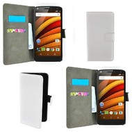 Motorola Moto X Force - Wallet Bookstyle Case Lederlook Wit
