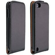 Apple iPod Touch 4 - Flip Case Cover Hoesje Lederlook Zwart