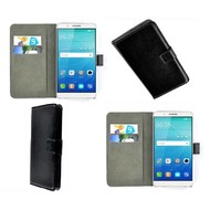 Huawei ShotX - Wallet Bookstyle Case Lederlook Zwart