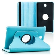 Samsung Galaxy Tab S2 (8.0) - Hoes 360° Draaibare Case Lederlook Turquoise