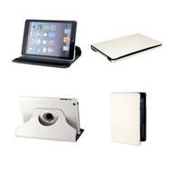 Apple iPad Mini 4 - Hoes 360° Draaibare Case Lederlook Wit