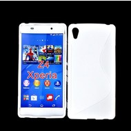 Sony Xperia Z4 - Tpu Siliconen Case Hoesje S-Style Wit