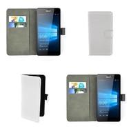 Microsoft Lumia 550 - Wallet Bookstyle Case Lederlook Wit