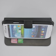 Samsung Galaxy S3 - Wallet Bookstyle Case Lederlook Zwart