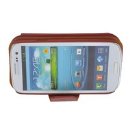 Samsung Galaxy S3 - Wallet book Case/Cover Beril-Bruin