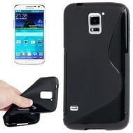 Samsung Galaxy S5 Plus - Tpu Siliconen Case Hoesje S-Style Zwart
