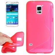 Samsung Galaxy S5 Plus - Tpu Siliconen Case Hoesje S-Style Roze