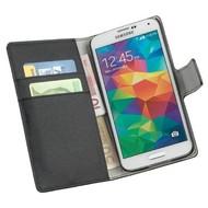 Samsung Galaxy S5 Plus - Wallet Bookstyle Case Y Zwart