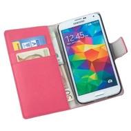 Samsung Galaxy S5 Plus - Wallet Bookstyle Case Y Roze