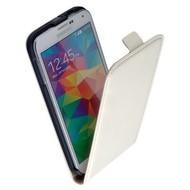 Samsung Galaxy S5 Plus - Flipcase Cover Hoesje Leder Wit