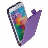 Samsung Galaxy S5 Plus - Flipcase Cover Hoesje Leder Paars