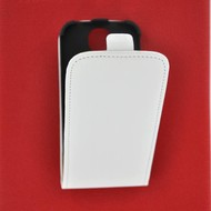 Samsung Galaxy S4 - Flip Case Cover Hoesje Lederlook Wit