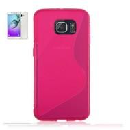 Samsung Galaxy A9 (2016) - Tpu Siliconen Case Hoesje S-Style Roze
