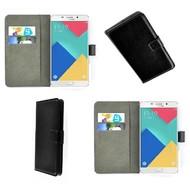 Samsung Galaxy A7 (2016) - Wallet Bookstyle Case Lederlook Zwart