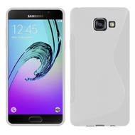 Samsung Galaxy A3 (2016) - Tpu Siliconen Case Hoesje S-Style Wit