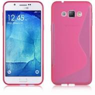 Samsung Galaxy A8 - Tpu Siliconen Case Hoesje S-Style Roze