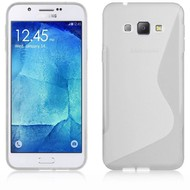 Samsung Galaxy A8 - Tpu Siliconen Case Hoesje S-Style Transparant