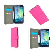 Samsung Galaxy A8 - Wallet Bookstyle Case Lederlook Roze