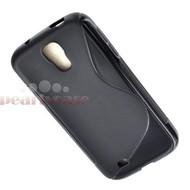 Samsung Galaxy S4 VE - Tpu Siliconen Case Hoesje S-Style Zwart