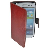 Samsung Galaxy S4 VE - Wallet Bookstyle Case Lederlook Bruin
