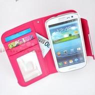 Samsung Galaxy S4 VE - Wallet Bookstyle Case Uitneembaar Hoesje Roze